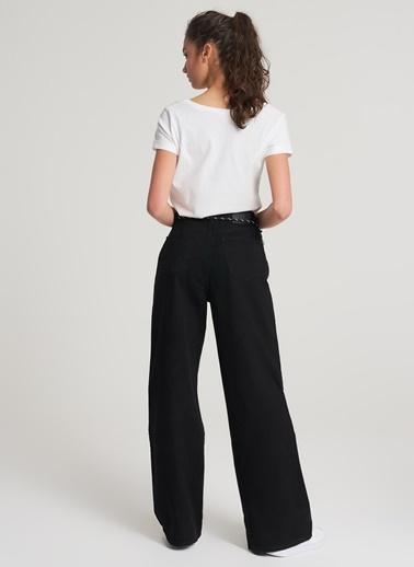 Pi π Yanı Şerit Detaylı Jean Pantolon Siyah